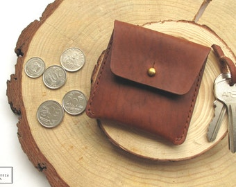 Horween Leather Coin Pouch / Leather Coin Wallet / Leather Coin Purse