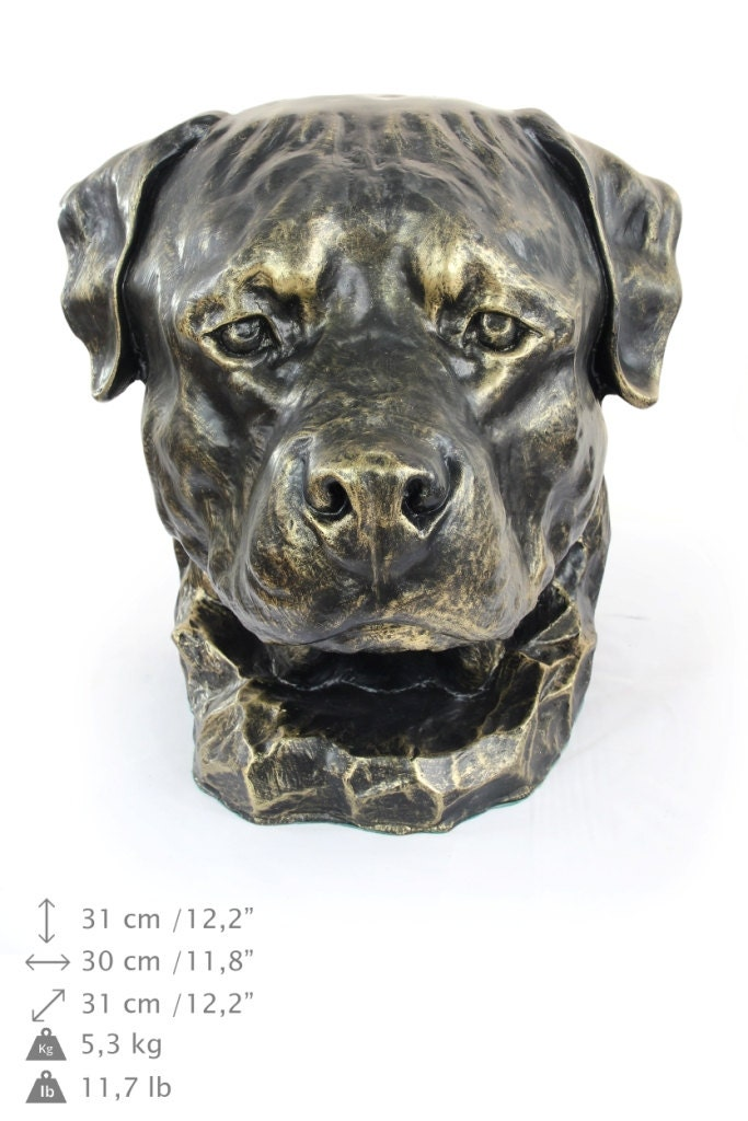 rottweiler dog big head statue limited edition artdog. Black Bedroom Furniture Sets. Home Design Ideas