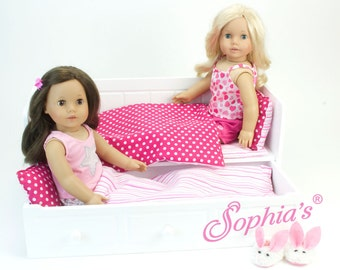 "Trundle Bed for 18"" Dolls with pillow and comforter"