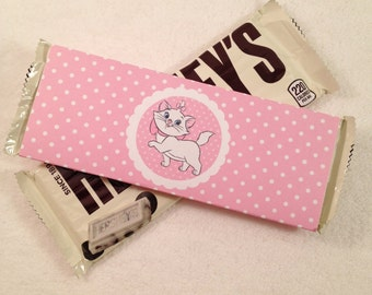 10 - Aristocats Marie Hershey Bar Wrappers Aristocats Birthday Marie Party Favor Aristocats Party Favor Aristocats Birthday