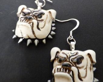 Georgia Bulldog Dangle Earrings