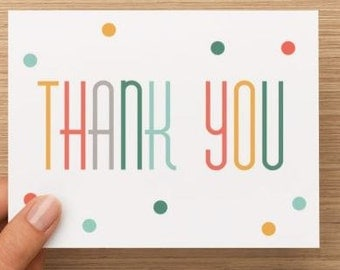 Gender neutral thank you card: gender neutral thank you cards for Baby Shower. Pack of 10, 20, or 30!