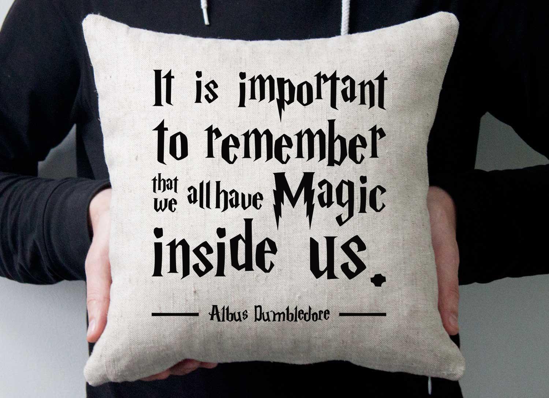 Artsy Bedroom Ideas Harry Potter Phrase Pillow Linen Cotton Pillow Handmade