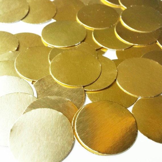 Metallic Gold Confetti | gold confetti plates set of 10