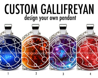 Custom Gallifreyan Personalized Name / Words Necklace  - Dr Who Pendant - Whovian Gift
