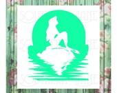 Mermaid silhouette Decal sticker