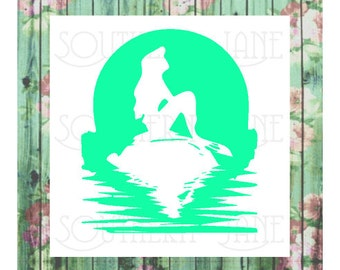 Mermaid silhouette Decal sticker