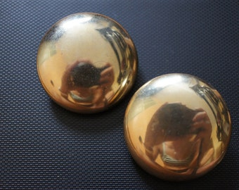 ALICE Jewelry Fun Vintage designer logo Gold Toner back earrings Clip On Clipon Buttons Z-116