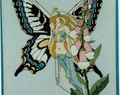 Fox Glove Fairy Counted Cross  Stitch Pattern by Illusions Designs