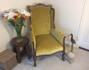 Arm chair, circa late Victorian  early Edwardian .