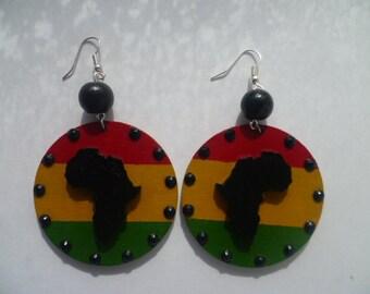Risen Africa Earrings - Red Gold Green - RBG