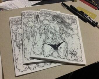 porn of the dead issue 1 art book/erotic zombie horror zine