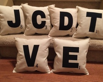 Scrabble pillow