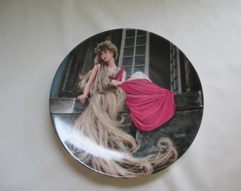 Vintage Grimms Fairy Tales Collector Plate Rapunzel Charles Gehm 2nd Issue~e8733