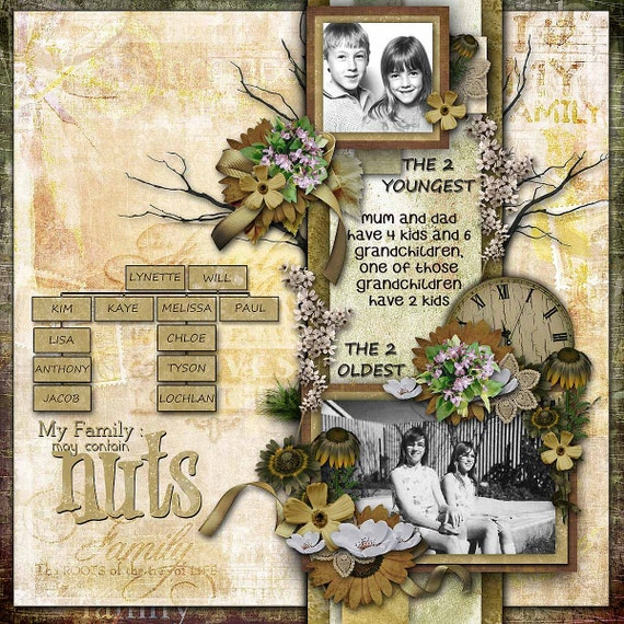 family ancestry digital scrapbooking kit family by