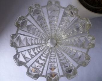 Pressed glass vase 1930
