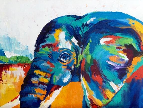Modern Elephant Print