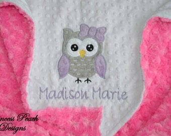 Personalized Baby Blanket, Minky Blanket, Personalized Blanket, Baby Blanket, Minky Blanket, Minky Baby Blanket, Choose your colors.