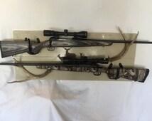 BBCD Handmade Buck, Doe & Fawn Gun Rack