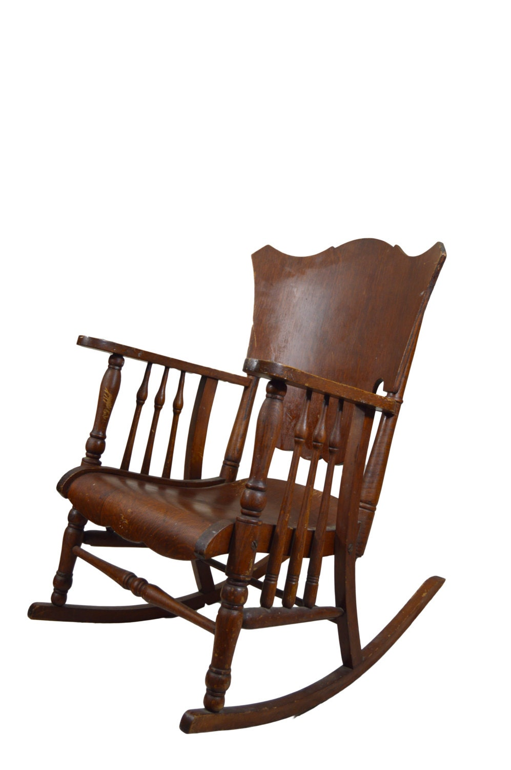 Antique Rocking Chair Bent Wood Rocker Rustic Rocker Nursery