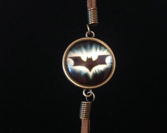 Batman Charm Bracelet , Women , Men, Kids, Super hero , Fans , brown