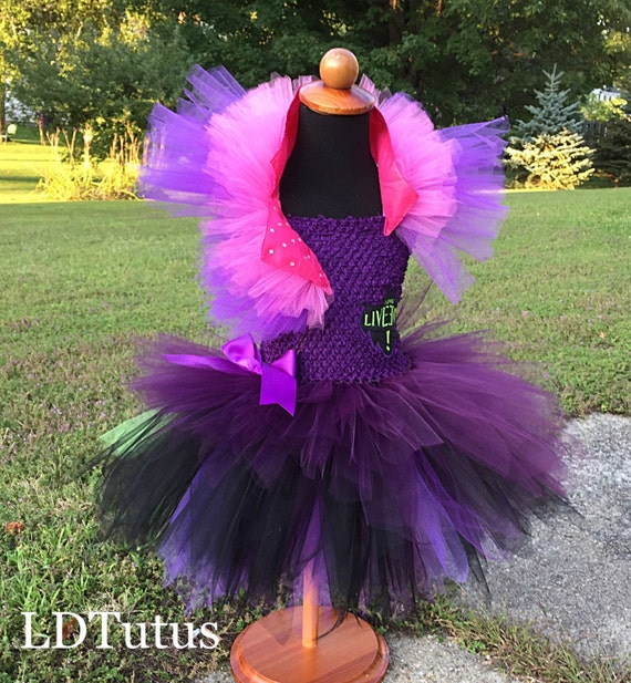 Disney Descendants Mal Inspired Tutu Costume Dress