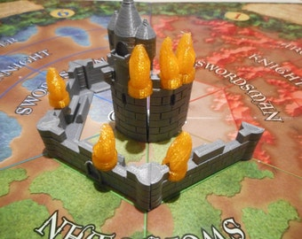 3D Printed Tall Tower and Fire pieces expansion.