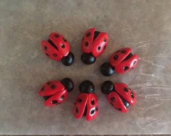 Fondant Ladybugs ( 1 inch length)
