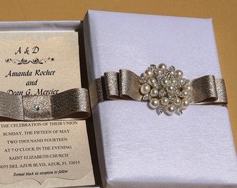 Elegant Boxed Wedding Invitation / Wedding Invitation Box / Invitation Box / Couture Invitation Box / Unique Invitation