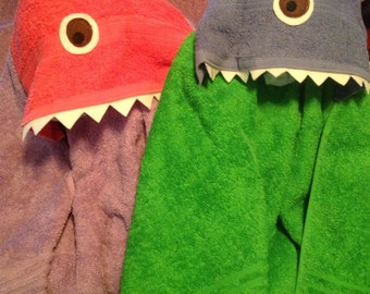 Monster hooded towels/custom build your own monster towel