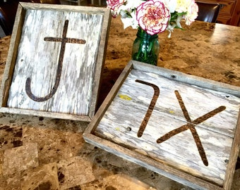 Rustic custom woodburned brand sign. Ranch, barn, pallet wood. Personal cattle brand gift. Wood burn. Free shipping.