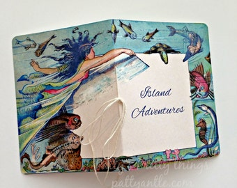 Mermaid Journal, Vacation Journal, Personalized Journal