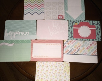 Project Life cards, 4x6 cards, assorted cards, project life, journaling cards, filler cards, journaling, planner, scrapbooking, stationery