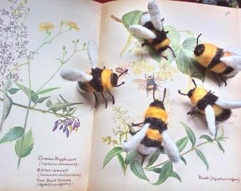 Needlefelt Bumble Bee Brooch