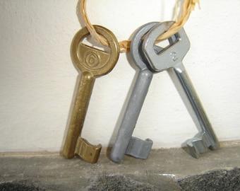 Set of Three Vintage Skeleton Keys