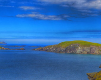 Ireland Photography, Ireland Landscape, Irish Sea, Dingle Peninsula, Irish Home Decor, Ireland Print, Blue