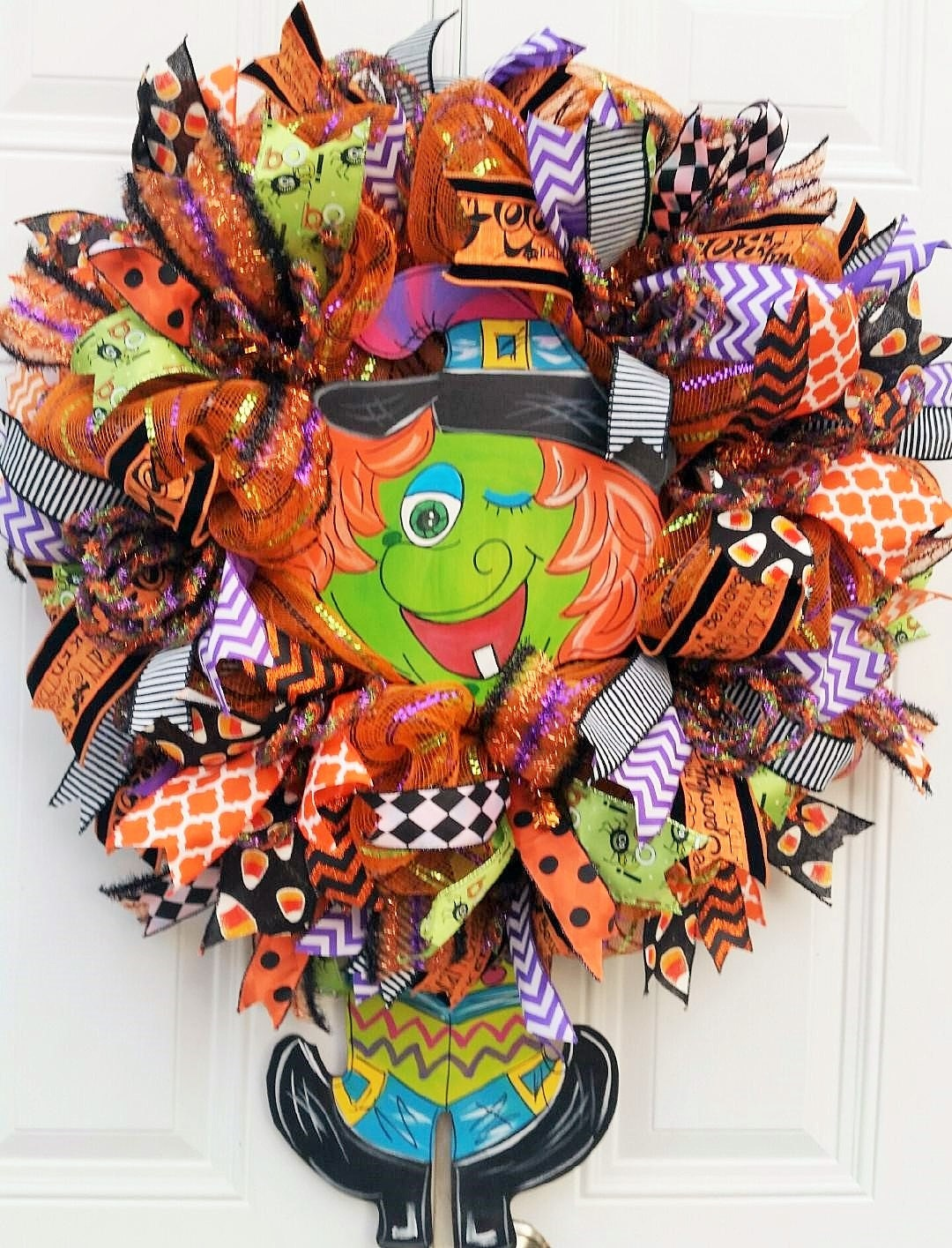 Halloween Witch WreathWitch Door by StudioWhimsybyBabs on