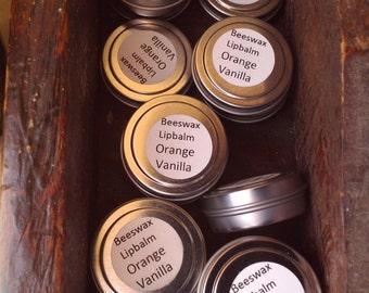 Orange Vanilla Beeswax Lipbalm with Shea Butter & Vitamin E Oil