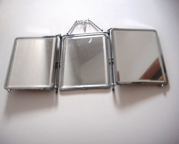 ... mirror vintage barber bathroom -Mirror 1940 Swivel & bevelled mirrors