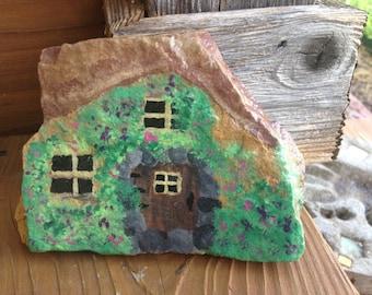 Fairy / Pixie / Hobbit house...painted rock