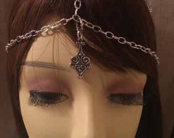 Medieval headpiece,Renaissance Circlet headpiece,gypsy headpiece, Pagan Headpiece,Celtic headpiece, mystical headpiece, Renaissance Festival