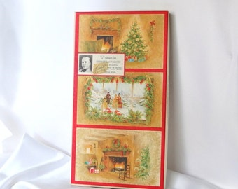 Vintage Christmas Card Box, Empty Ambassador Cards Box, Scarf Gift Box