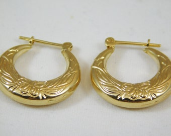 14kt Yellow Gold Small Hoop Earrings