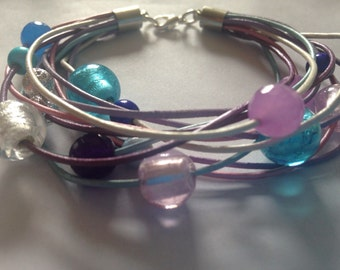 Multi layer pastal bracelet