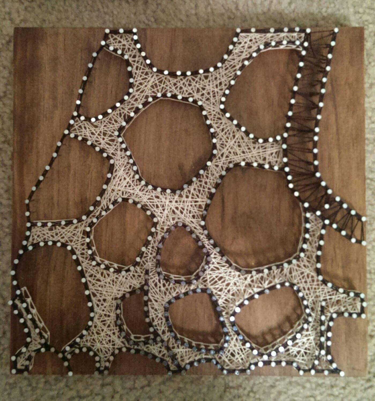 Nail And String Art: 3 Panel Giraffe Nail And String Art Original Design