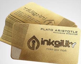 100 Metal Stainless Steel Business Cards