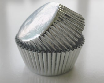 SILVER Cupcake Liners