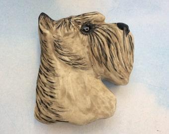 Studio made porcelain schnauzer dog trinket box by Artist Carol Halmy jewelry