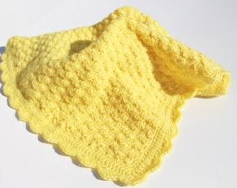 Yellow Baby Blanket, Crochet Baby Blanket, Crochet Blanket, Baby Afghan, Crochet Afghan, Gender Neutral, Crochet Blanket, Ready to Ship Sale