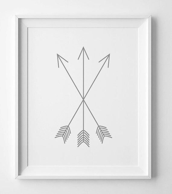 Grey Arrow Wall Decor : Neutral nursery print wall art prints tribal grey